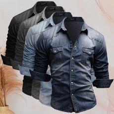 buttonupshirt, slim, Shirt, Sleeve