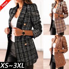 Casual Jackets, plaid, Blazer, Office