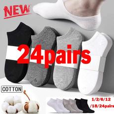 slipperssock, Cotton Socks, Elastic, whitesock