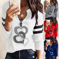 blouse, Heart, ladiesfashionclothe, Plus Size
