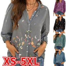 butterfly, Plus Size, Shirt, loose shirt
