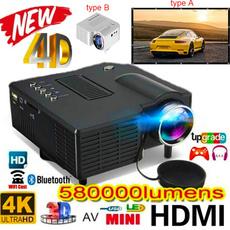 Hdmi, Mini, portableprojector, led