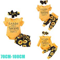 babyset, ruffle, babyromper, Sunflowers