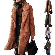 Sleeve, Long Coat, winter coat, solidcolorcoat