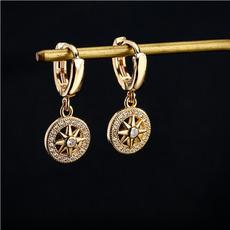 yellow gold, Hoop Earring, Dangle Earring, Jewelry