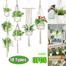 Rope, Plants, flowerpot, Home Decor