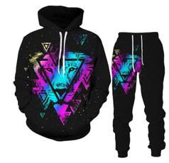 Fashion, 3dhoodedsweatshirttrouserstwopiece, 3dprinthoodedsweatshirt, Hot Sale