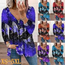 shirtsforwomen, butterfly, Plus Size, Shirt