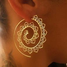 Woman, screwtype, Exaggeration, retro earrings