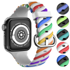 rainbow, Fashion Accessory, applewatchseries6, applewatchband42mm