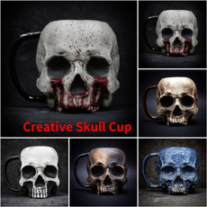 Collectibles, halloweengift, skull, Cup