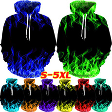Plus Size, unisex clothing, pullover hoodie, Colorful