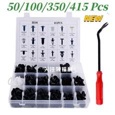 Box, fastenerspanelclip, nylonpushrivet, carfenderclip