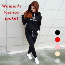 Two-Piece Suits, hooded, jogging suit, Long Sleeve