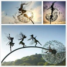 Yard, Garden, dandelion, Dance