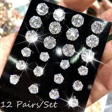 Cubic Zirconia, Steel, earrings jewelry, zirconstudearring