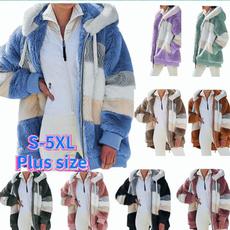 Casual Jackets, Plus Size, fur, Plus Size Fashions