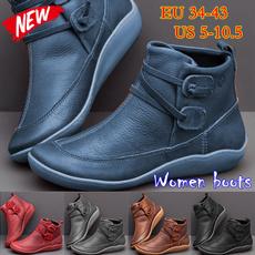Plus Size, Waterproof, PU Leather, Women's Fashion