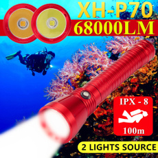 Flashlight, underwater, ledtorch, Hunting