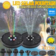 solarfountainlight, led, Colorful, smallsolarfountain