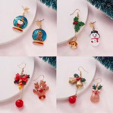Bell, newyearearring, Stud Earring, Bears