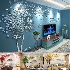 Home Decor, 3dwallsticker, TV, treewallstick
