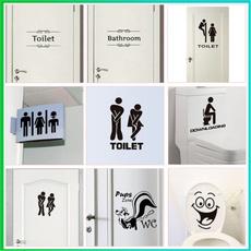 Funny, Bathroom, Fashion, Door