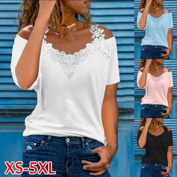 blouse, Summer, womens top, Lace