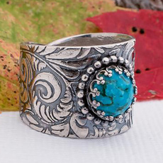 Sterling, bohemianring, Turquoise, Engagement