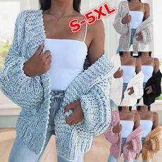 casual coat, Plus Size, Knitting, sweater coat
