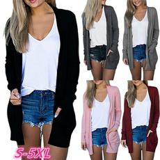 casual coat, Plus Size, Coat, sleevecoat