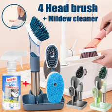 4in1cleaningbrush, Kitchen & Dining, cleaningsponge, Cleaning Supplies