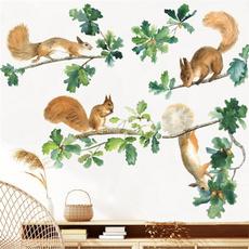 PVC wall stickers, cute, Decor, squirrel