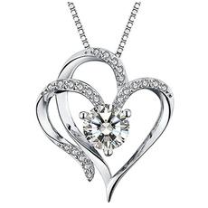 Heart, crystal pendant, DIAMOND, jewelry fashion