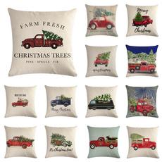 christmaspillow, Throw Pillows, linenpillow, Christmas