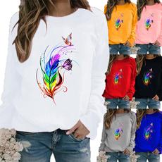 Plus Size, Graphic T-Shirt, Long Sleeve, winter fashion