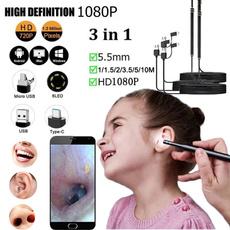 Mini, earendoscopetool, nosethroatinspection, earwaxearpick