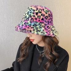 hats for women, fur, Winter, leopard print