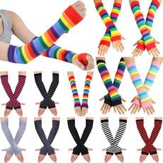 fingerlessglove, rainbow, Cosplay, Gloves