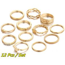首饰, 套装, 戒指, 镶钻戒子
