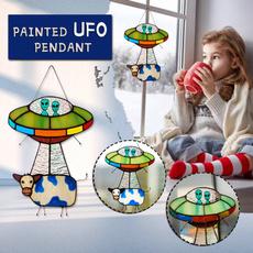 stainedwindowpanel, Outdoor, Garden, ufo