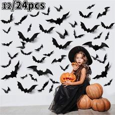 batsticker, PVC wall stickers, Bat, halloweenparty
