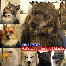 werewolfmaskadult, Head, led, Animal