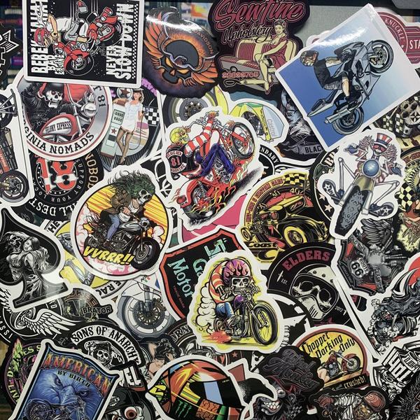 motorcyclegraffitisticker, motorcycle helmet, Stickers, decoration