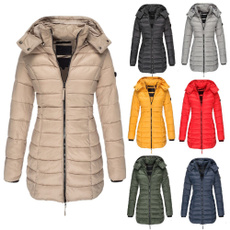 padded, hooded, Winter, pufferjacket