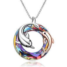 Beautiful, cute, crystal pendant, 925 sterling silver