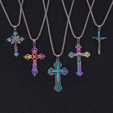 christ, Colorful, european, Cross