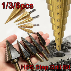 stepdrill, Steel, stepbitset, holecutter
