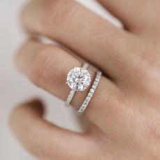 Sterling, DIAMOND, art, wedding ring
