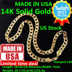 yellow gold, Punk jewelry, Chain Necklace, hip hop jewelry
